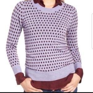 J crew purple dot sweater s